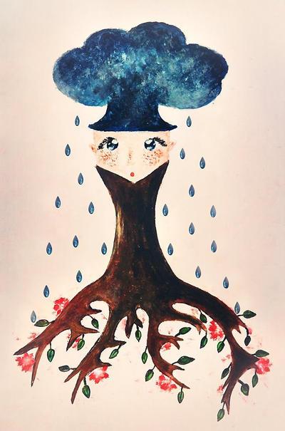 Little Tree Blue by iNeedChemicalX