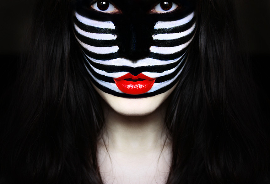 Zebra wears red, too by iNeedChemicalX