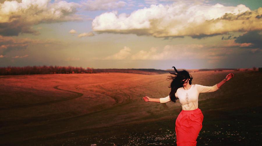 I put my arms around the wind