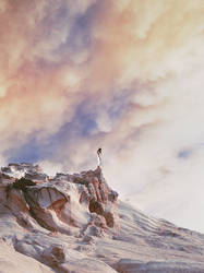 Self-portrait on distant planet with cotton skies by iNeedChemicalX