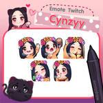 Commission Emotes Twitch (cynzyy)