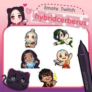 Commission Emotes Twitch (hybridcerberus)
