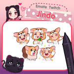 Commission Emotes Twitch (jindo)