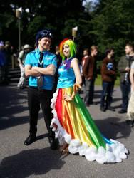 Gala Soarin and Rainbow Dash.