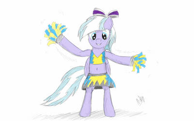 Lilac Sky cheerleader