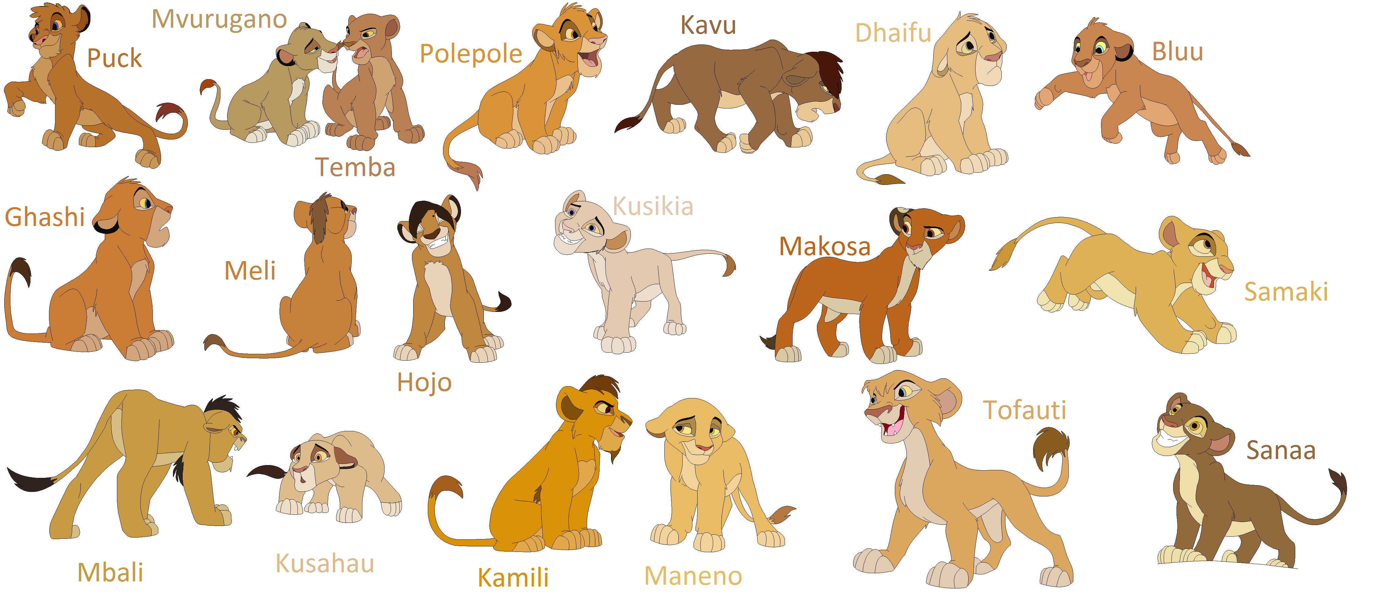 Image Gallery Lion King Lions Names