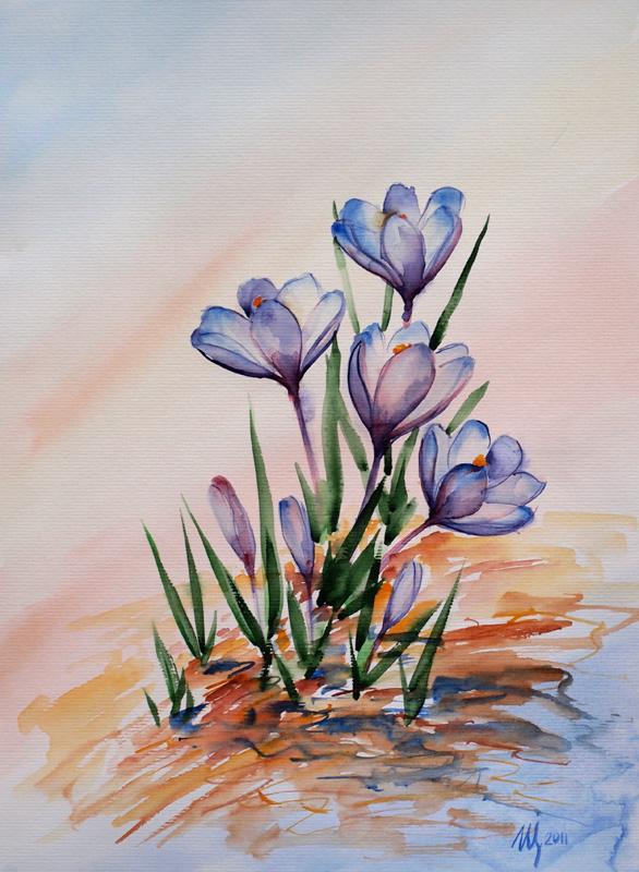 Spring crocuses by NataliSpalette
