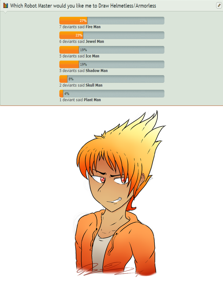 Poll Result! - Fire Man by LoaS-ScourgeTH