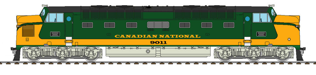 CN Green and gold