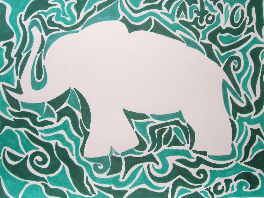 Implied Lines In Art : Implied lines elephant by skurdy on deviantart