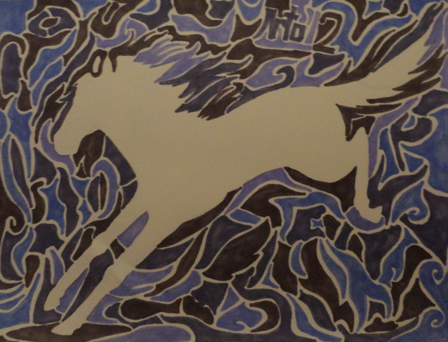 Implied Lines In Art : Implied lines horse by skurdy on deviantart