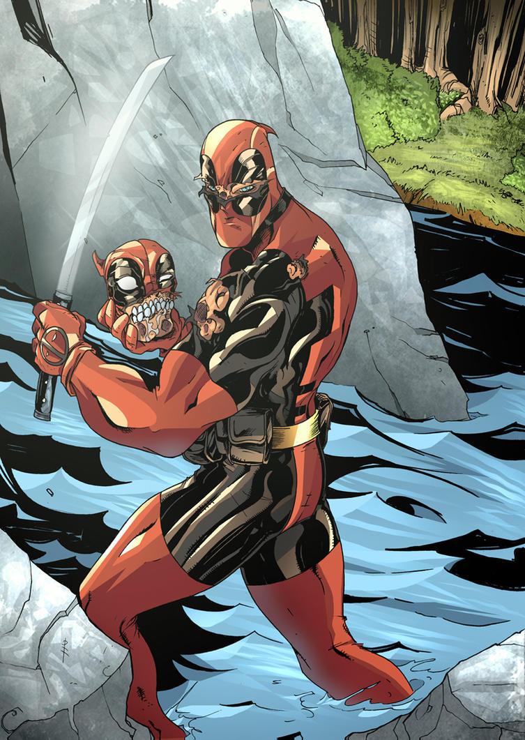 Deadpool Headpool in Colour by TheBoo
