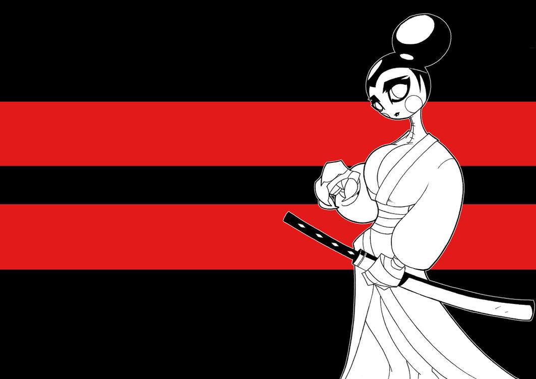 SkaterGirl as Samuraijack by TheBoo