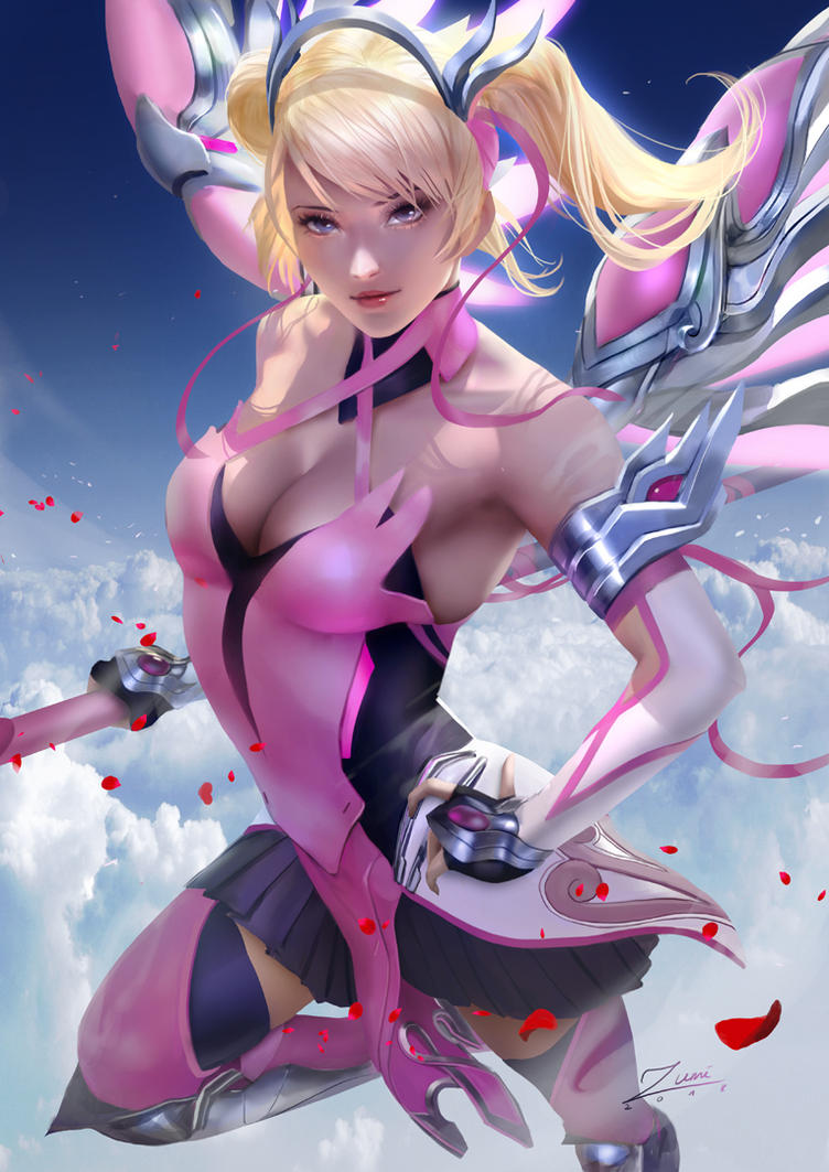 Pink Mercy by zumidraws