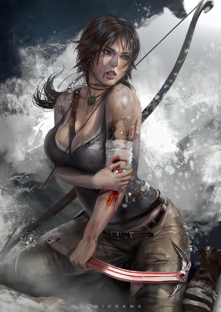 Lara Croft by zumidraws