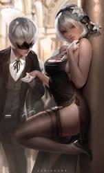 2B Masquerade by zumidraws
