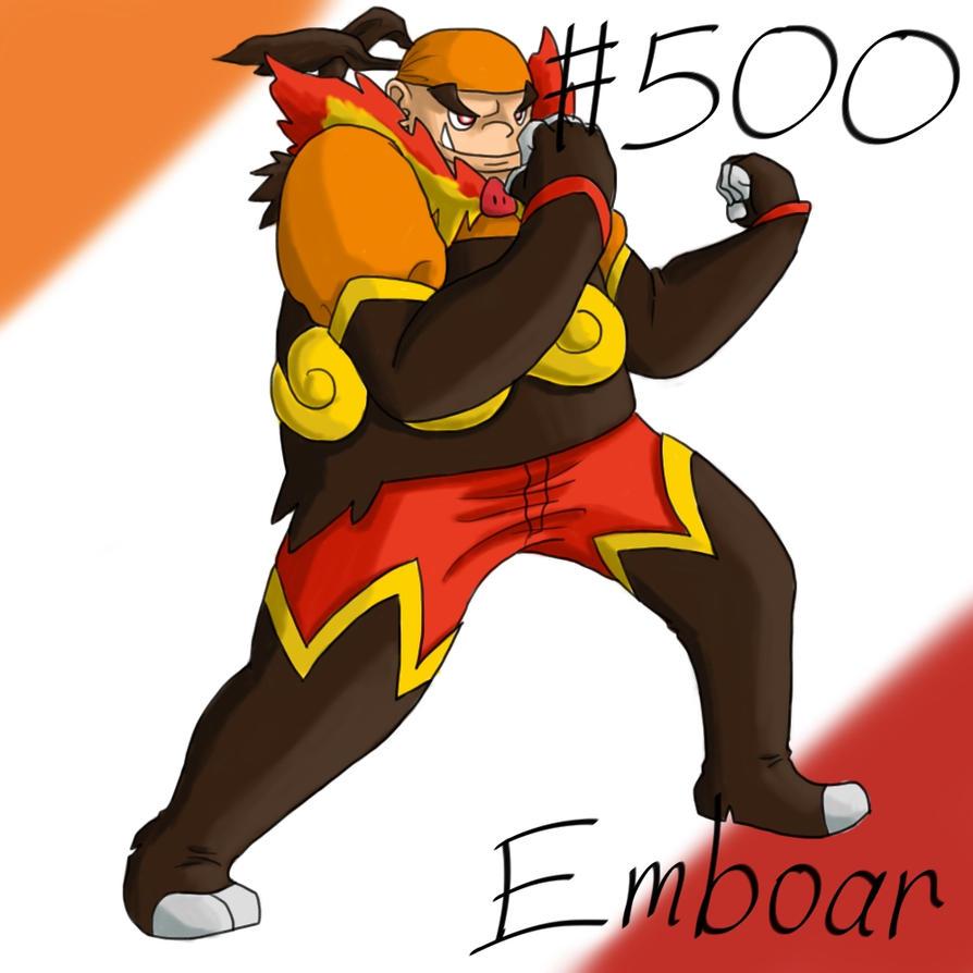 Pokemon Gijinka Project 500 Emboar by JinchuurikiHunter on ...