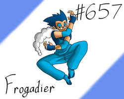 Pokemon Gijinka Project 657 Frogadier