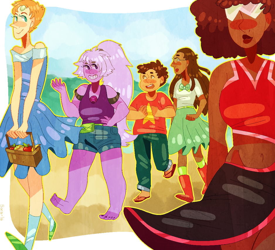 i rly love this show!! its like 28239% diverse and its super cute n interesting (available as a print here!) -- Tumblr