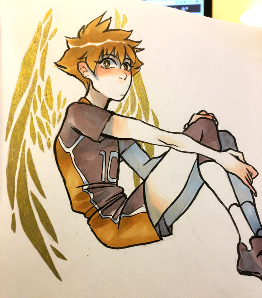 gold wings hinata by naydeity