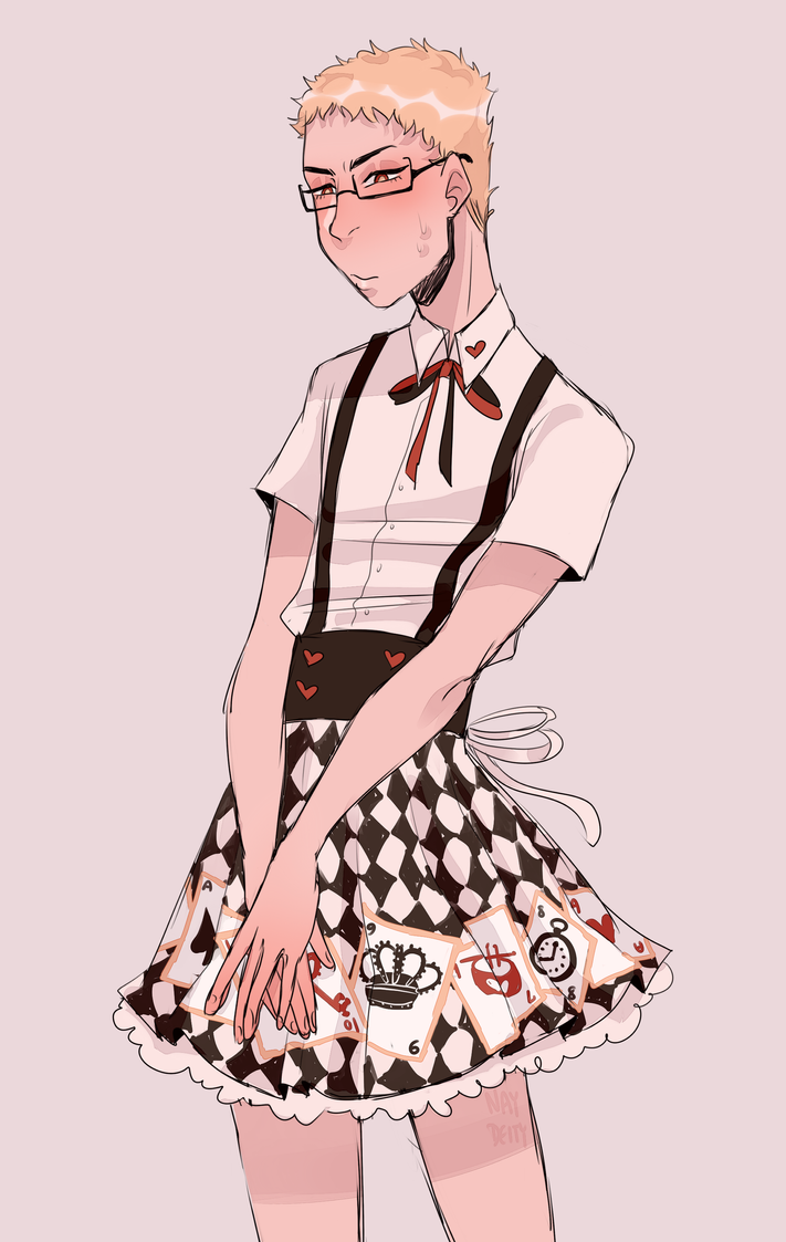 tsukki outfit request by naydeity