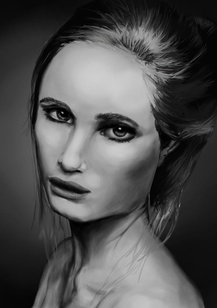 Greyscale Portrait Practice by YouriVDE