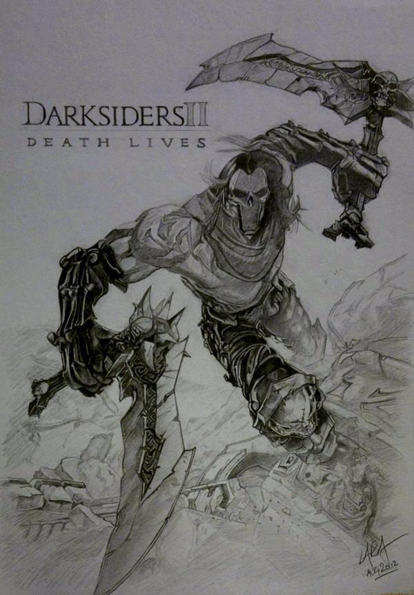 Darksiders 2 Death Fan Art by c-r-o-f-t