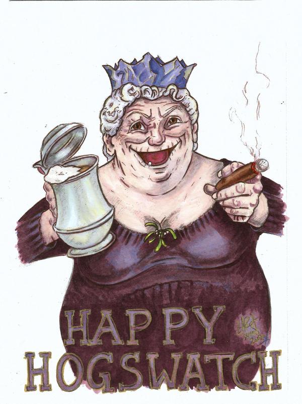 Happy Hogswatch - Nanny Ogg by c-r-o-f-t