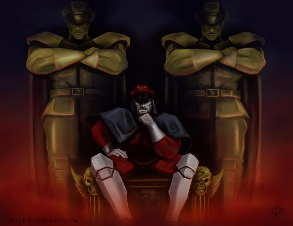 Shadowloo Showdown V: M. Bison - Reflection by c-r-o-f-t