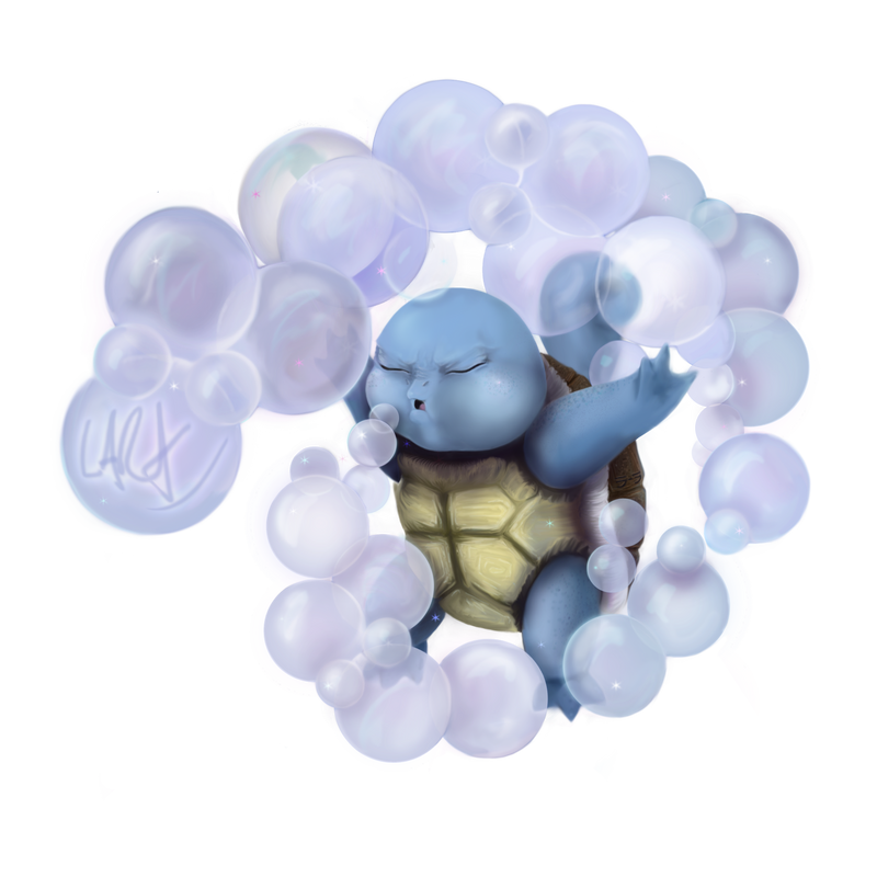 Game-Art-HQ's Pokemon Art Collaboration - Squirtle by c-r-o-f-t