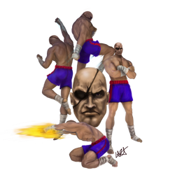 SF 30th Anniversary Tribute - Sagat - SF2