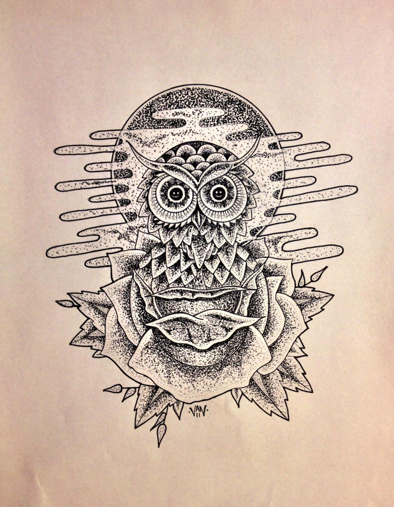 STIPPLE OWL by SedatedArtworks