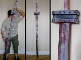 Guts' golden age sword by InfectedGuili