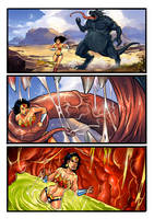 Vore: Wonder Woman Swallowed Whole Fan Comic by zetaxinn