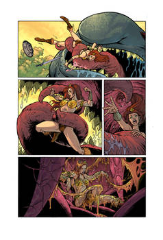 He-Man Vore: Eaten By An Ugly Giant Fish! Page 2