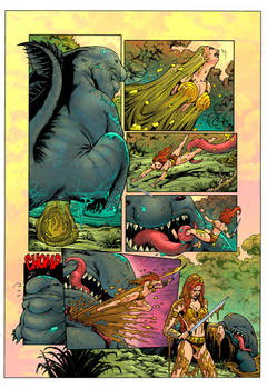 He-Man Vore: Eaten By An Ugly Giant Fish! Page 4