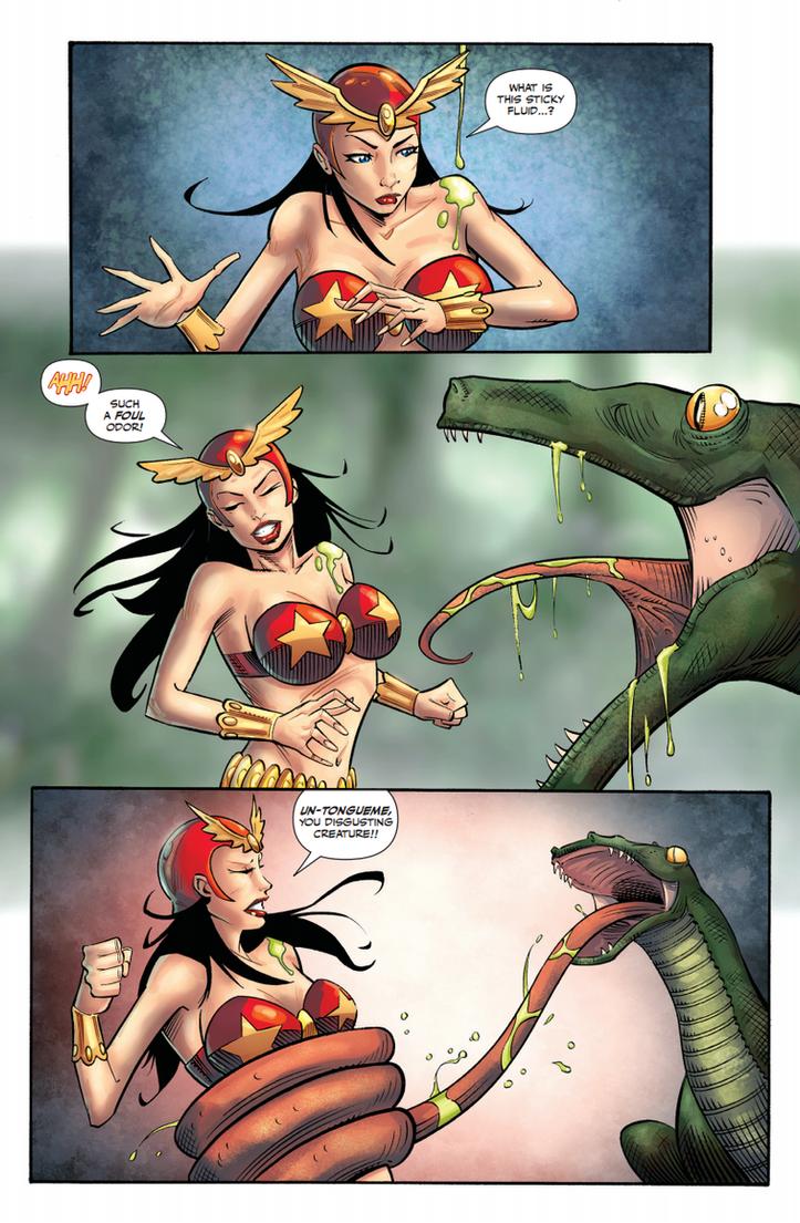 Darna Comic Vore: Attack of Snake Frog Hybrid Pg1 by zetaxinn