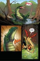 Darna Comic: Attack of a Snake Frog Hybrid Pg2 by zetaxinn