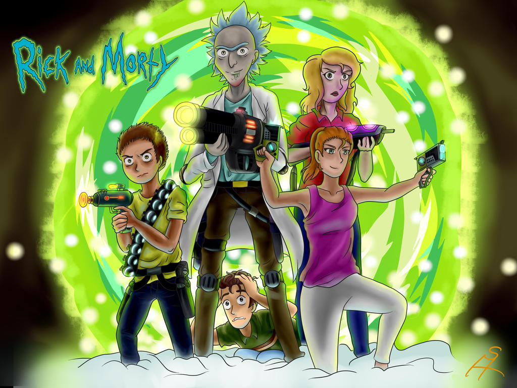 Simple Wallpaper High Quality Rick And Morty - rick_and_morty_wallpaper___speedpaint__by_daskillerfussel-dbb5yu6  Photograph_874100.jpg