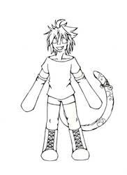 Rin Line Art by Kaoyru