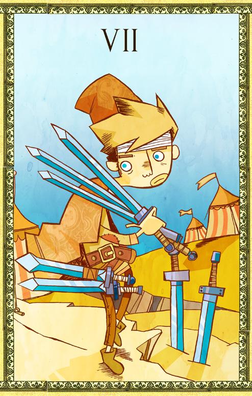 7 de espadas. by JuanCaminador