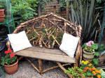 Found Wood Garden Bench