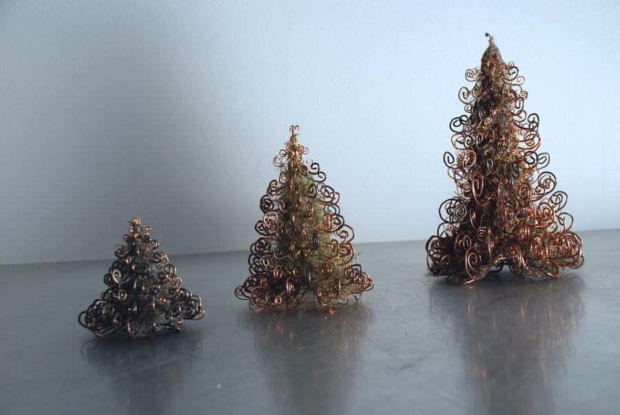Wire Christmas Tree Ornaments by kate-arthur on DeviantArt