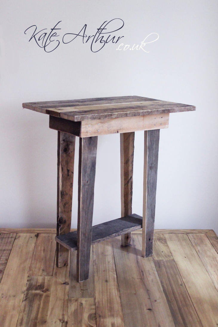 reclaimed wood  side table by katearthur . reclaimed wood  side table by katearthur on deviantart