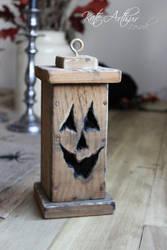 Wooden Pumpkin Lantern by kate-arthur