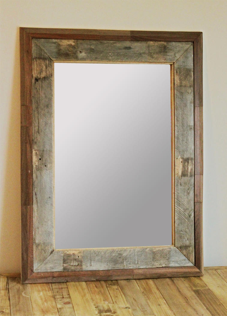 Reclaimed Wood Mirror Frame WB Designs - Reclaimed Wood Mirror Frame WB Designs