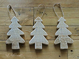 Hanging Christmas Trees by kate-arthur