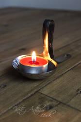 Ladle Tealight Holder by kate-arthur
