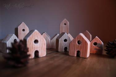 Wooden Village by kate-arthur