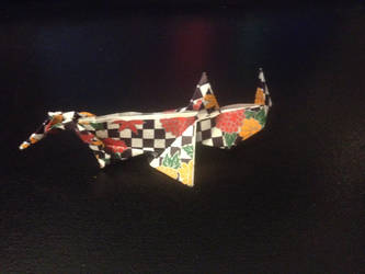Origami Rhino by dnaexmosn